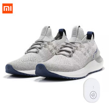Fashion Xiaomi Mijia Freetie Smart Shoes Lightweight Breathable Ventilate Elastic Knitting Shoes Running Sneaker For Man original xiaomi mijia freetie ultra light running shoes men s city sneaker air mesh breathable eva sole stylish casual shoes