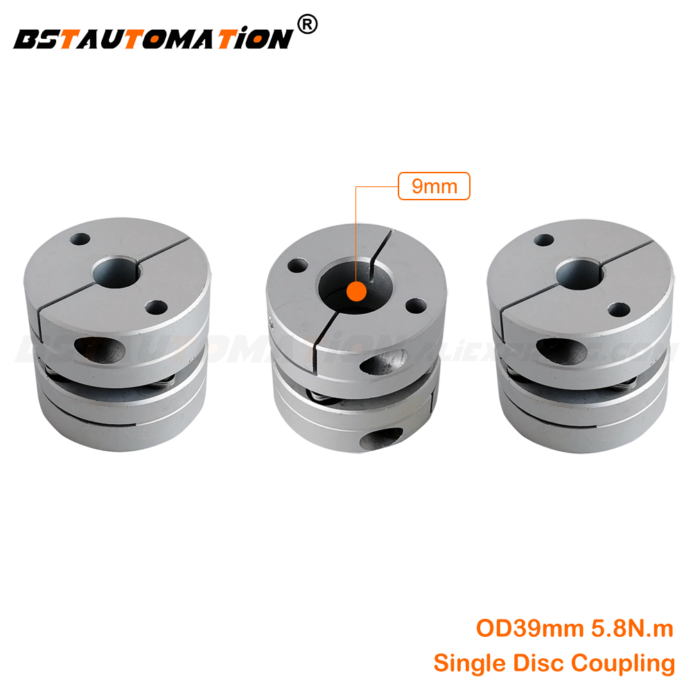Clamp Tight Motor Shaft Coupler Disc <font><b>Coupling</b></font> 3pcs/lot 9mm to 8mm 10mm 12mm 13mm 14mm 15mm 16mm 17mm 18mm 19mm Single Disk OD 39 image