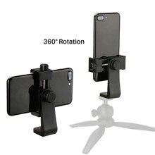 Evrensel telefon Tripod dağı adaptörü cep telefonu kesme standı dikey 360 derece ayarlanabilir tutucu voor iPhone voor kamera