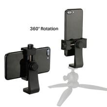 Universel téléphone trépied montage adaptateur téléphone portable Clipper support Vertical 360 degrés support réglable voor pour iPhone voor caméra