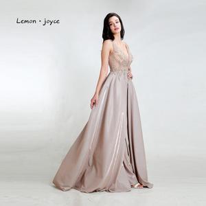 Image 5 - Limon joyce yeşil balo kıyafetleri 2020 seksi v yaka boncuk parlak Dubai gece elbisesi vestidos de gala artı boyutu