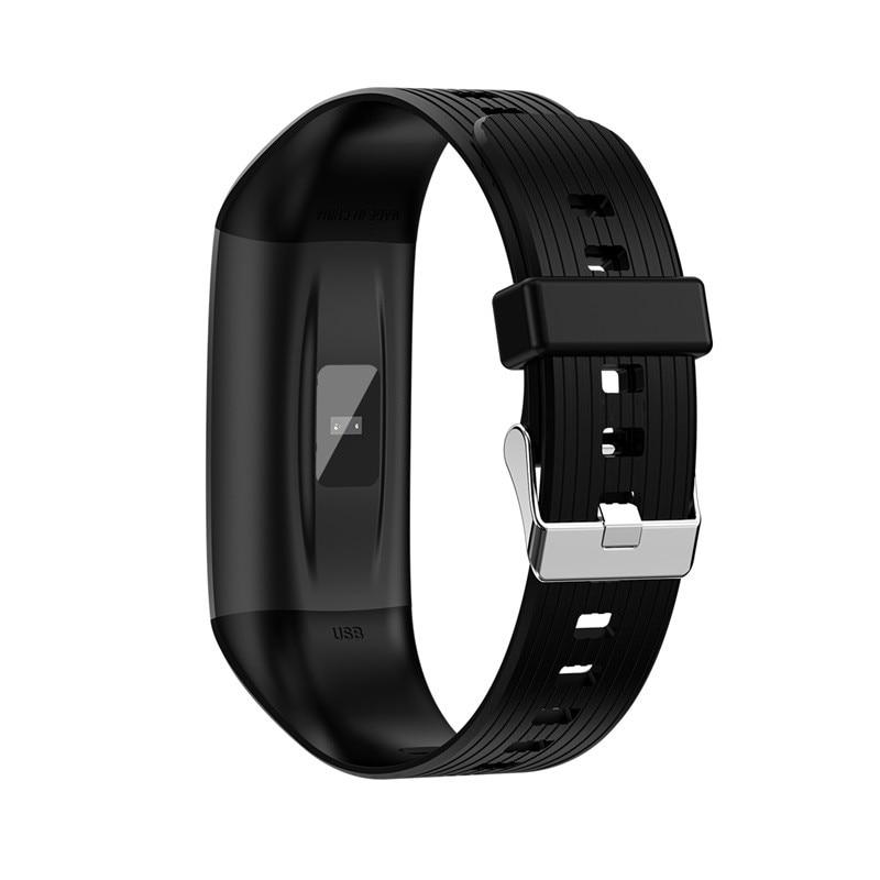 H60717499fc9246fc9ed23c0dfb0adcbbm R12 Smart Band Bracelet Fitness Bracelet with Pressure Measurement Health Wristband Pedometer Heart Rate Monitor Cardio Bracelet
