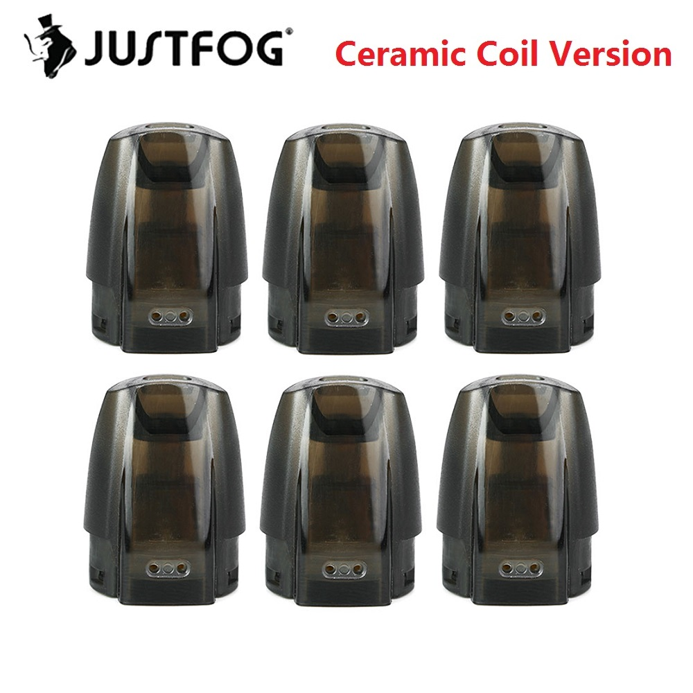 New Version Original JUSTFOG Minifit Pod/ Ceramic Pod 3 Pcs 1.5ml For JUSTFOG Minifit Starter Kit Electronic Cigarette Accessory