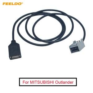 FEELDO 1PC カーオーディオの AUX の USB ケーブル女性ポート延長ワイヤアダプタホンダシビック/アコード/ オデッセイ三菱ランサー