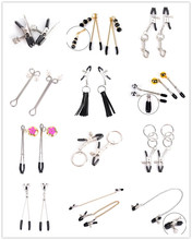 Woman Black Metal Nipple Clamps Steel Breast Clips Clitoris Stimulator Fetish Sex Toys For Butt Plug Bdsm Bondage Esposas Para