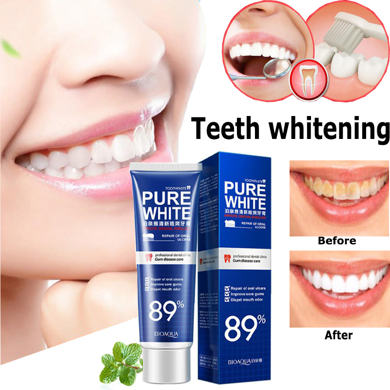 Double-Effect Whitening Toothpaste Long Lasting Scope Outlast  Cranberry  Mint Teeth Cleaning Oral Hygiene Plaque Teeth Care