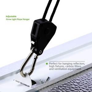 """Adjustable 150LB 1/8"""" Nylon Rope Ratchet Yoyo Hangers Light Hangers Reflector Lifter"""