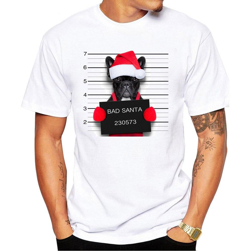 Shirt Men Bad Dog Pug Police Dept Printed T-shirt Short Sleeve Casual Tops 2020 Pug Life Vintage Design Men T Shirt