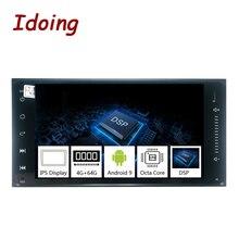 Idoing Radio Multimedia con GPS para coche, Radio con reproductor, Android, DSP 9,0, Universal, 7 pulgadas, compatible con Toyota, 4G + 64G, pantalla IPS completamente táctil
