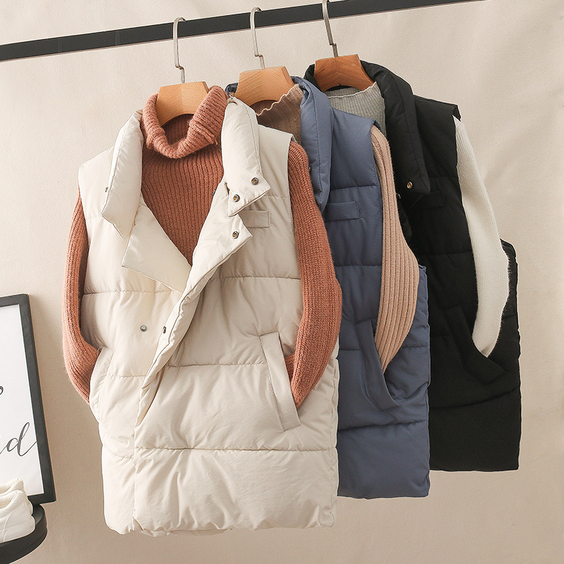 Cheap Wholesale 2019 New Autumn Winter  Hot Selling Women's Fashion Casual Female Nice Warm Vest Outerwear BP84581
