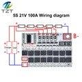 Защитная печатная плата для тройной литий-ионной, литий-полимерной батареи 3s/4s/5s Bms 12v 16,8 v 21v 100a