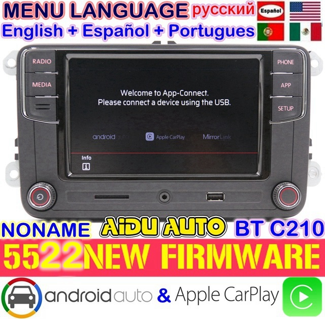 CarPlay Android Auto RCD330 RCD340 Plus Noname Radio 187B C210 For VW Tiguan Golf 5 6 Jetta MK5 MK6 Passat CC Polo 6RD035187B Toyota Land Cruiser