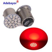 Bombilla LED para coche P21W 1157 Bay15d, 12V, 22SMD, luz de señalización superbrillante, luz de freno de giro automático, lámpara de estacionamiento, 1 ud.
