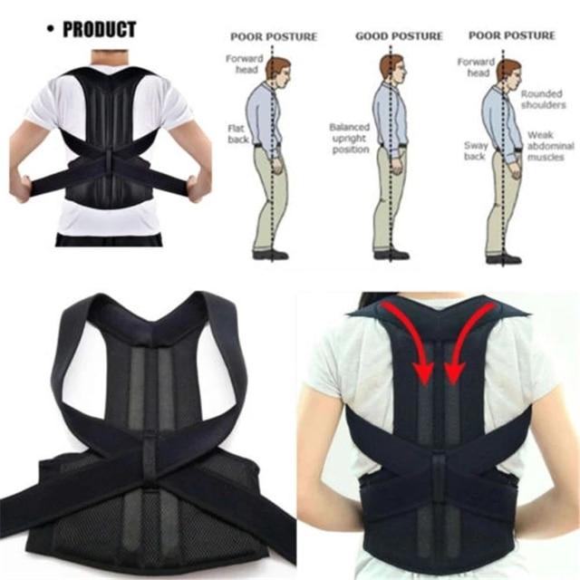 Men Women Adjustable Magnetic Posture Corrector Male Corset Back Support Belt Lumbar Support Sports Safety Straight Corrector 6