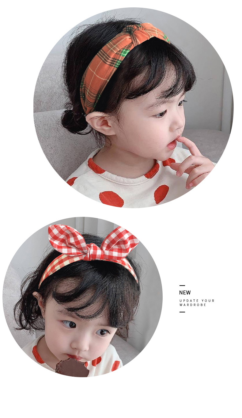 3 Pcs/Set Children Cute Colors Printed Lattice Stripes Hair Hoop Hairbands Girls Lovely Bow Ears Headbands Kids Hair Accessories