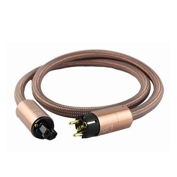 HI End Schuko Power Cord CD amplifier amp EU Power Plug Cable HIFI AC Mains Power CableEU Schuko Power Cord AU Power Cord