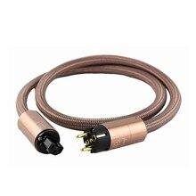 Cabo de alimentação de alta fidelidade schuko cd amplificador amp plugue de alimentação da ue cabo de alimentação de alta fidelidade ac cabo de alimentação cabo de alimentação