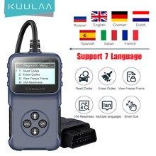 KUULAA – outil de Diagnostic automobile V309, lecteur de Code de défaut, effaceur de Code de défaut, vérification des informations sur le véhicule, prise OBD2