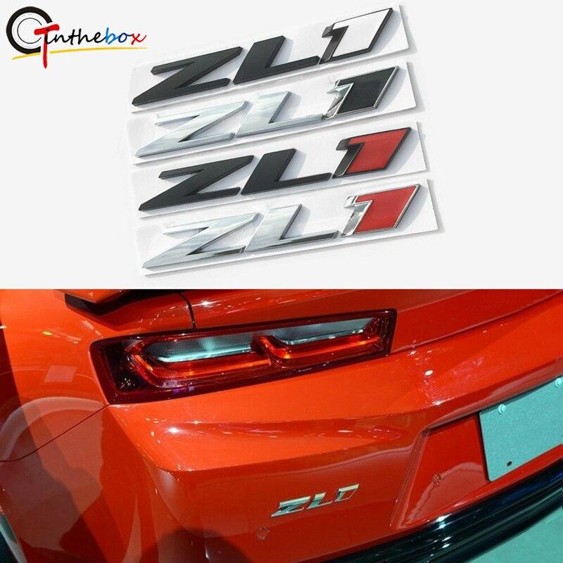 Chevy Camaro ZL1 Black Red Metal Letter Logo Hood Fender Rear Bumper Emblem SET