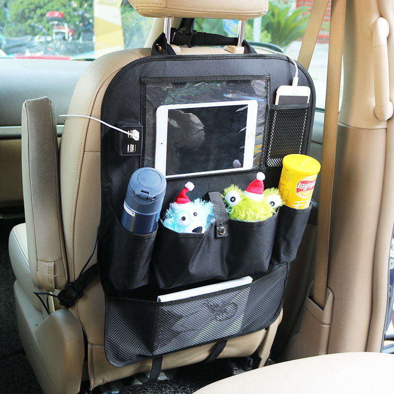 Image 3 - LCAV Car Seat Back Organizer bag with 4 USB charger cable-in Stowing Tidying from Automobiles & Motorcycles