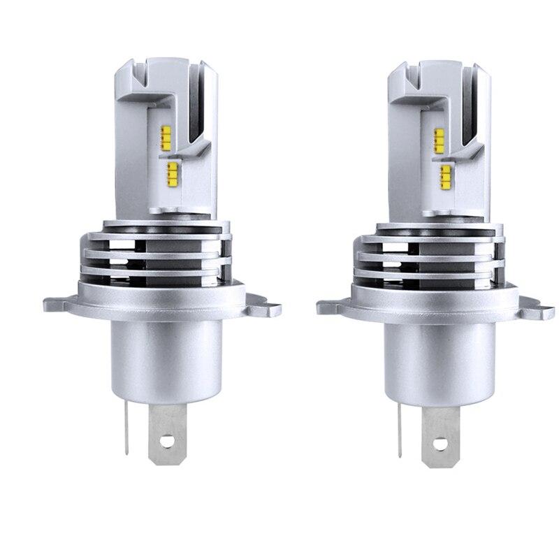 Светодиодные фары H4 9003 HB2, лампы дальнего и ближнего света Canbus, 110 Вт, 6500 лм, К, без ошибок, 2 шт.