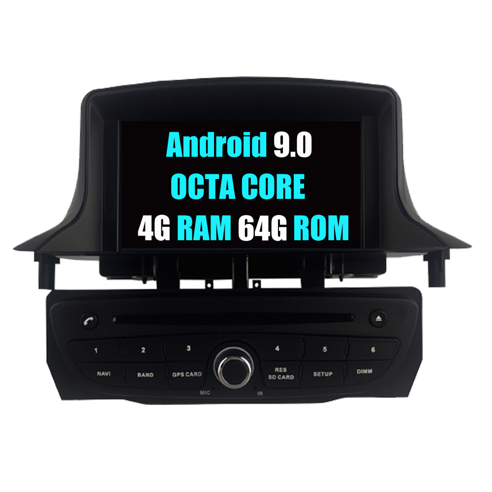 Car Radio Stereo For Renault <font><b>Megane</b></font> III <font><b>3</b></font> Fluence Android 9.0 Autoradio DVD <font><b>GPS</b></font> Navigation Media Multimedia Audio Video Player image