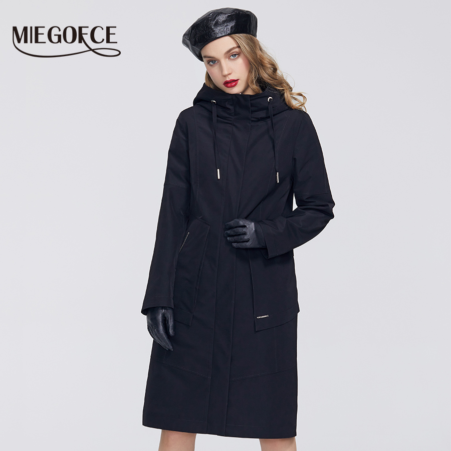 MIEGOFCE 2020 Spring New Collection Women Windbreaker With Cold Overcoat With Resistant Coat And Hood Casual For Fashionistas