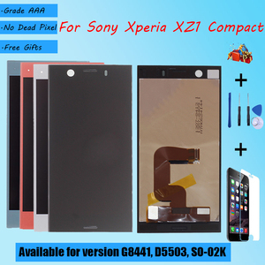 Image 1 - For Sony Xperia XZ1 Compact G8441 D5503 SO 02K LCD screen assembly touch glass,With repair parts LCD Display Black Blue Silver