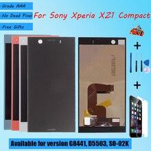 ЖК экран для Sony Xperia XZ1 Compact G8441 D5503, сенсорное стекло в сборе с ЖК экраном, с запасными частями, ЖК дисплей, черный, синий, серебристый