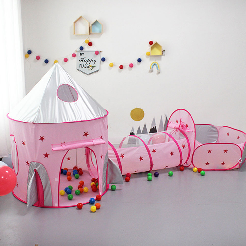Creative Kids Playing Tent Indoor Mini Kids Amusement Park Funny Indoor Crawling Tunnel Toy Ocean Ball Pool Game Tent Toy