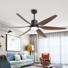 66 inch 54 inch Nordic Ceiling Fans with Lights DC 110-240V American Retro Restaurant Living room Remote Control Mute Fan Lamp