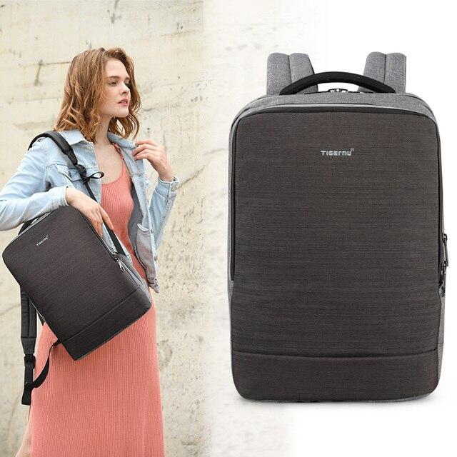 새로운 Tigernu 여성 배낭 4.0A USB 빠른 충전 안티 절도 배낭 여성 15.6 노트북 비즈니스 여행 Bagpack Mochila