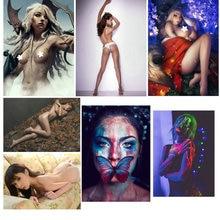 Custom Design 250GSM Paper Card PostCard Nude Art Disco Wall Enchantment Temptation Girl T-Back Tease Flirt Sex BRA DIY Painted