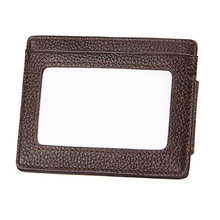 Para Mini Vintage Magnet Clip Pocket Purse Passport Wallet Card Case Solid Men RFID Blocking Business Short PU Leather Clamp(China)
