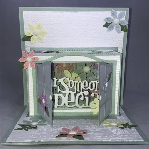 KSCRAFT Pop Up Window Card Metal Cutting Dies Stencils for DIY Scrapbooking/photo album Decorative Embossing DIY Paper Cards