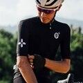 2021 дышащая мужская черно-белая веломайка с коротким рукавом, летняя велосипедная одежда, топ для дорожной команды, велосипедная спортивная ...
