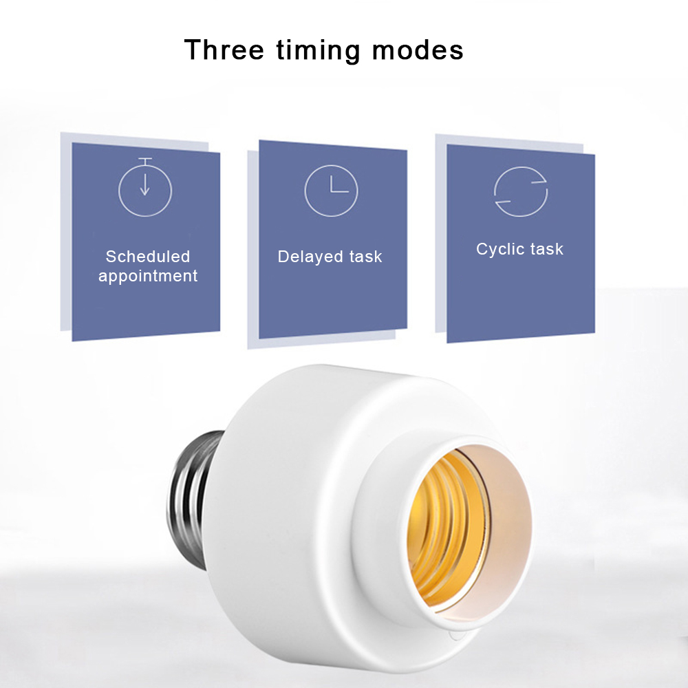 Image 2 - New Smart E27 Light Bulb Head Base Intelligent Lamp Head Wifi Remote Switch Voice Control Compatible with Alexa Google Home-in Home Automation Modules from Consumer Electronics