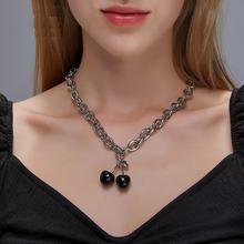 Новое ожерелье с черной вишней kpop для женщин толстая цепочка