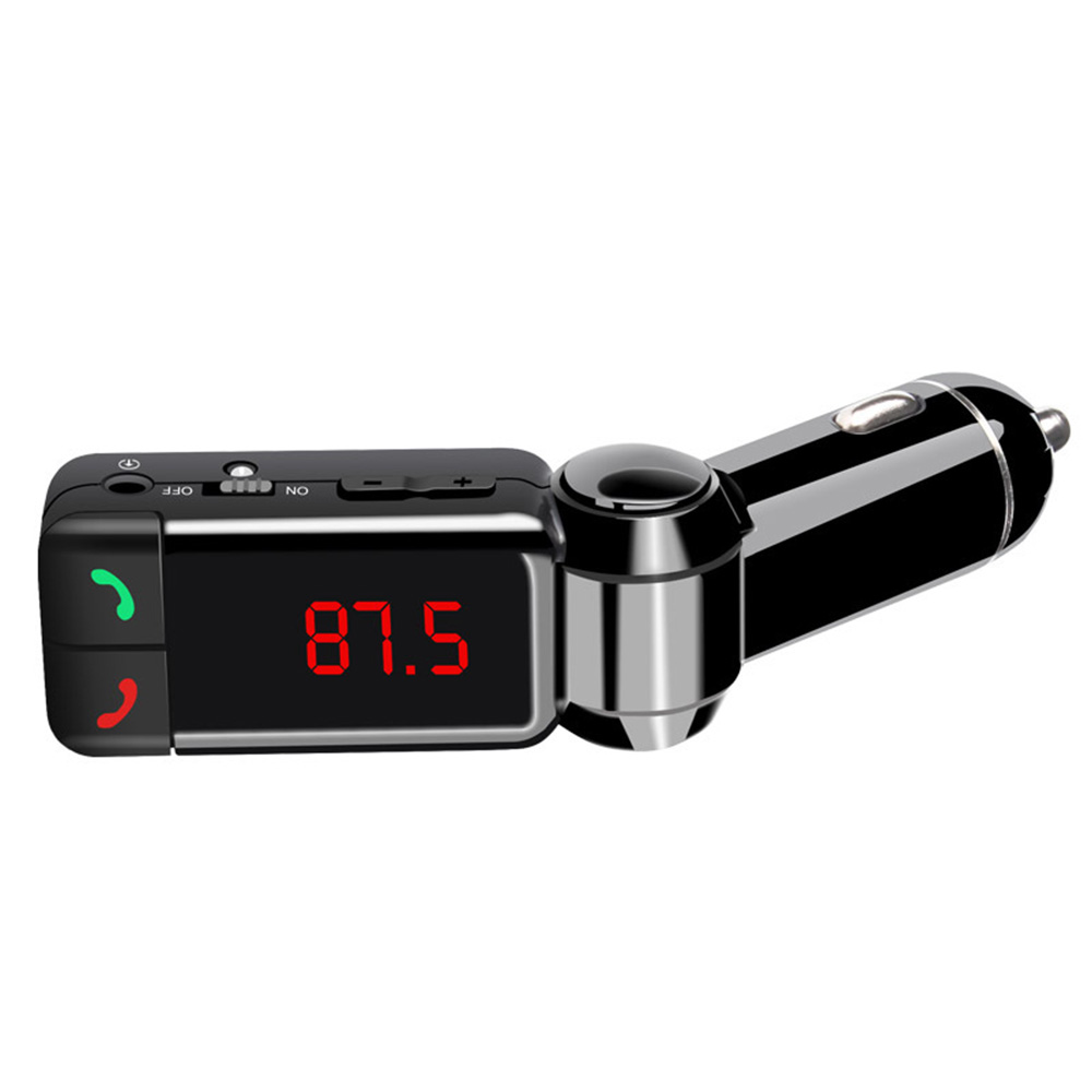 Otomobiller ve Motosikletler'ten Bluetooth Araç Kiti'de Araba Bluetooth FM Verici eller serbest araç kiti MP3 Ses Çalar Kablosuz Modülatör USB şarj aleti Cep Telefonu için title=