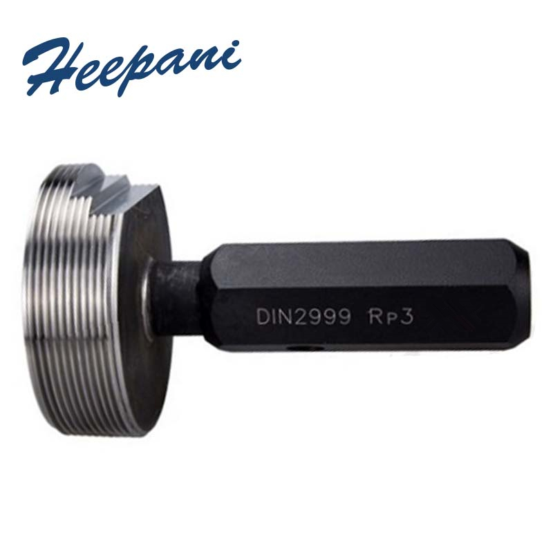 Free shipping round tapered pipe thread plug gauge RP18, 14, 38, 12, 34, 1`` etc Din2999 plain screw gauges (8)