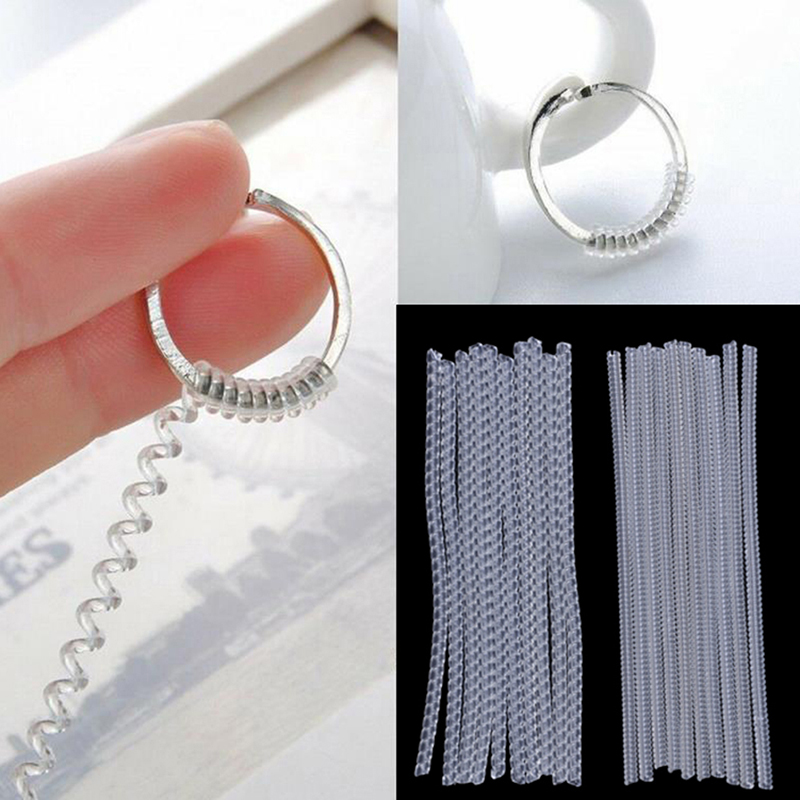 10PCS 10cm Invisible Spiral Based Ring Sizer Adjuster Guard Insert Tightener Reducer Resizing Fitter Jewelry Tools For Any Rings