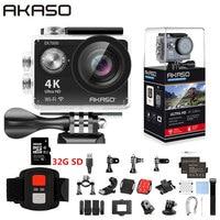 AKASO EK7000 WiFi 4K Экшн-камера Ultra HD Водонепроницаемая DV видеокамера 12MP камера Спортивная камера 170 градусов широкоугольный оригинал