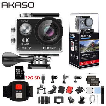 AKASO EK7000 WiFi 4K Action Camera Ultra HD Waterproof DV Camcorder 12MP Cameras Sports Camera 170 Degree Wide Angle Original