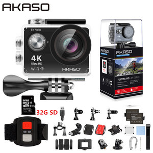 AKASO EK7000 WiFi 4K Action Camera Ultra HD Waterproof DV Camcorder 12MP Cameras Sports Camera 170 Degree Wide Angle Original(China)