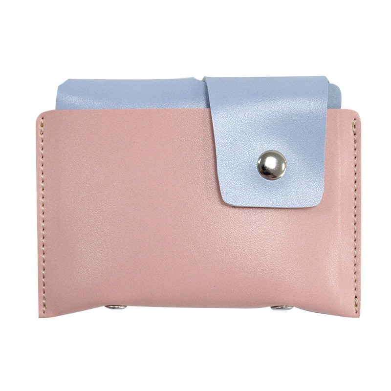 Hot Sales Leather Purse Pu Hide Substance Coin Pocket Wallet Buckle Students Key