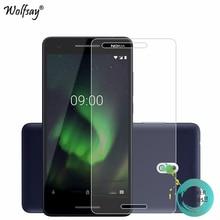 2 adet cam Nokia 2.1 2018 için ekran koruyucu için Nokia 2 için 2018 temperli cam koruyucu Film Nokia 2.1 TA 1080 cam