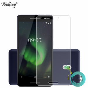 Image 1 - 2PCS Glass For Nokia 2.1 2018 Screen Protector For Nokia 2 2018 Tempered Glass For Protective Film For Nokia 2.1 TA 1080 Glass