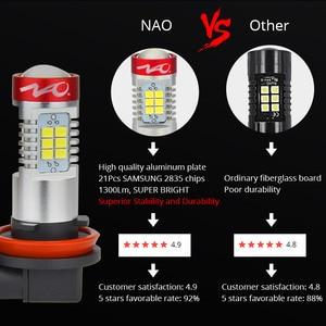 Image 3 - NAO H11 светодиодный HB4 9006 HB3 9005 Автомобильный светодиодный H10 H8 H16 противотуманный светильник W5W лампа H9 2835SMD 2600LM 12V Автомобильная ходовая лампа белого цвета 6000K