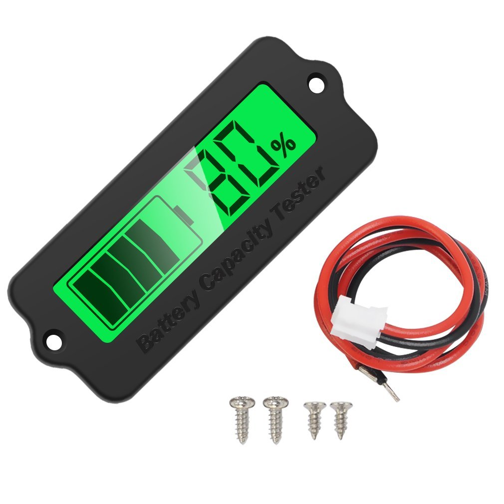 LY6W Car Battery Tester Lithium Battery / Lead-acid Battery Indicator Display Panel Battery Capacity Tester for Car E-bike