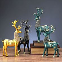 Fawn home decor car decoration accessories nordic sculpture statues for decoration sculpture modern art action figure Good luck